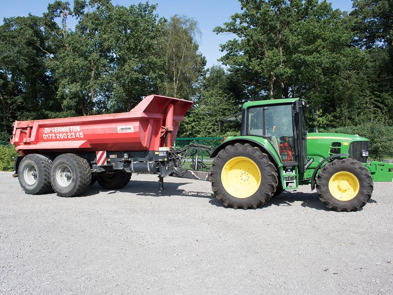 traktor john deere kippmulde maschinenvermietung michael surray - Traktoren